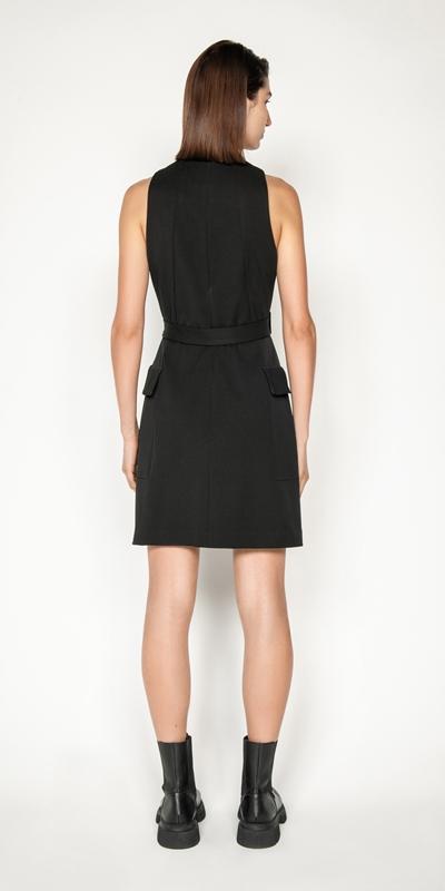 Dresses | Eco Twill Zip Front Dress