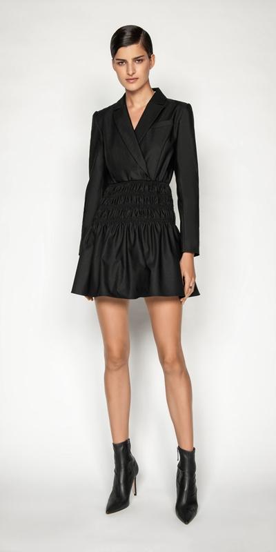 Dresses | Shirred Blazer Dress