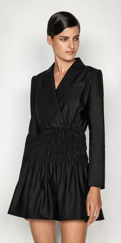 New Arrivals  | Shirred Blazer Dress