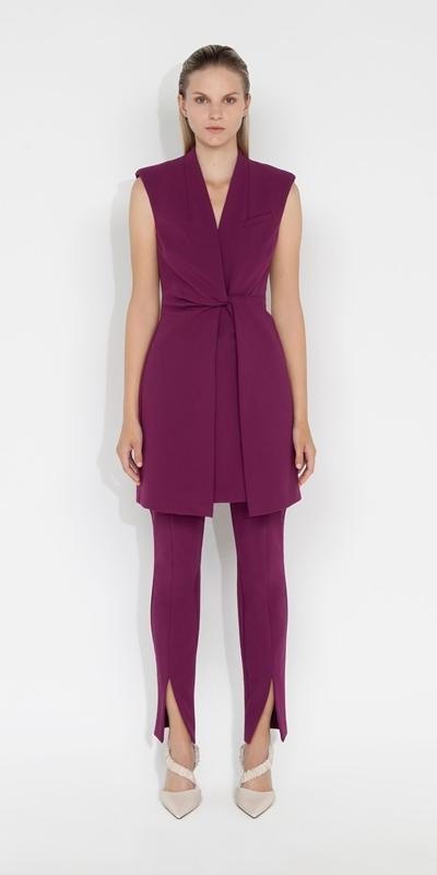 Dresses | Ultra Fuchsia Twist Front Dress