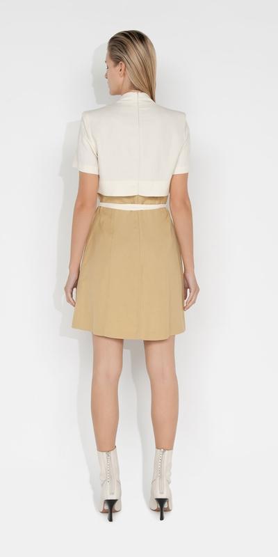 Dresses   Layered Wrap Mini Dress