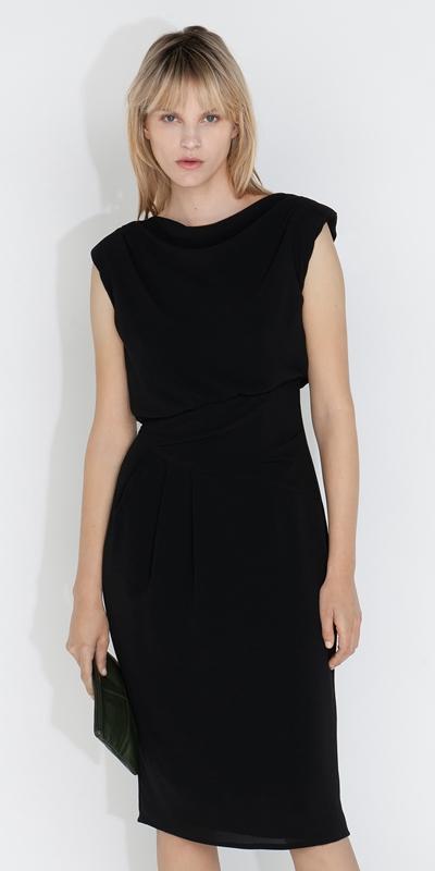 Dresses  | Cowl Neck Pencil Dress