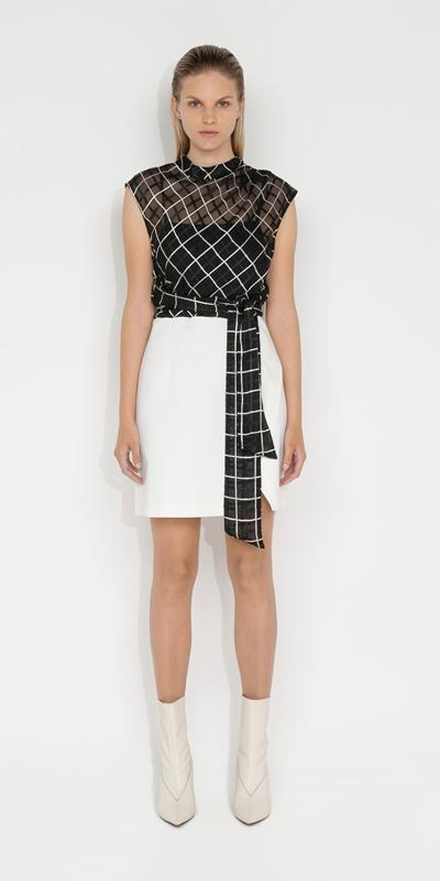 Dresses | Monochrome Check Mini Dress