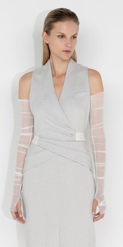 Dresses  | Melange Wrap Column Dress