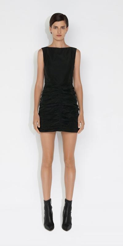 Dresses | Tech Ruched Mini Dress