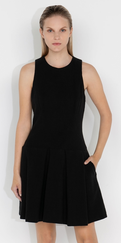 Dresses  | Boucle Tweed Drop Waist Dress
