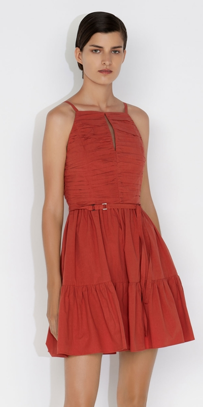 Dresses  | Cotton Ruched Dress