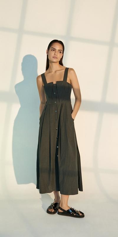 Dresses | Cotton Snap Front Dress