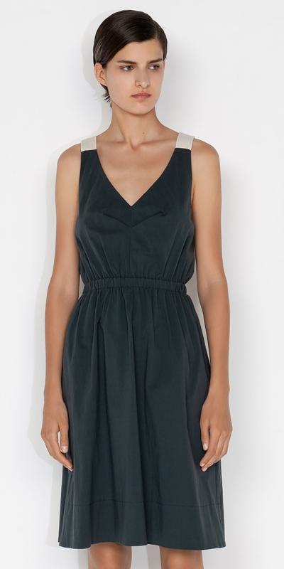 Dresses  | Cotton Tie Back Dress