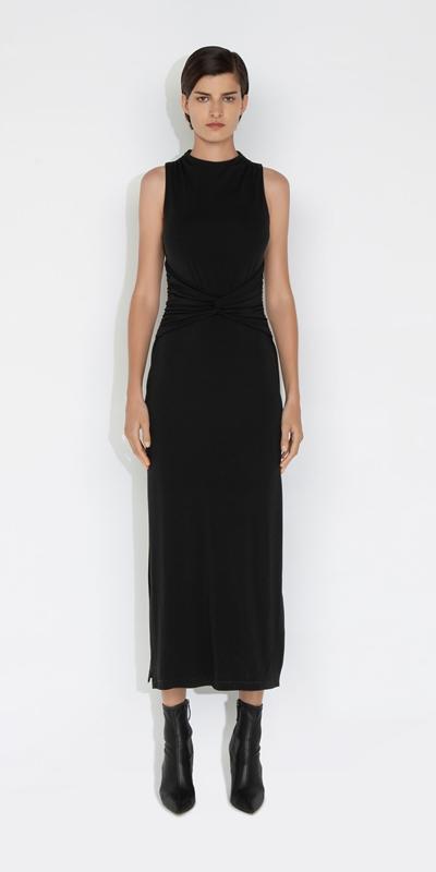Dresses | Jersey Twist Front Midi Dress