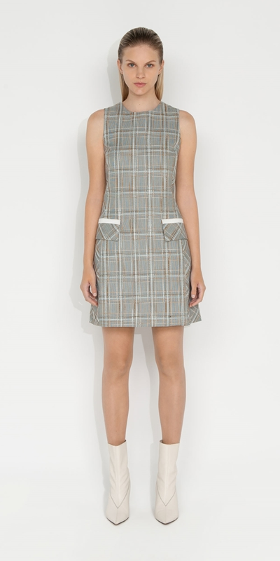 Dresses | Tweed Check Shift Dress