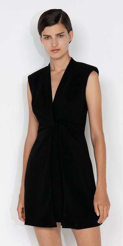 Dresses  | Twist Front Blazer Dress