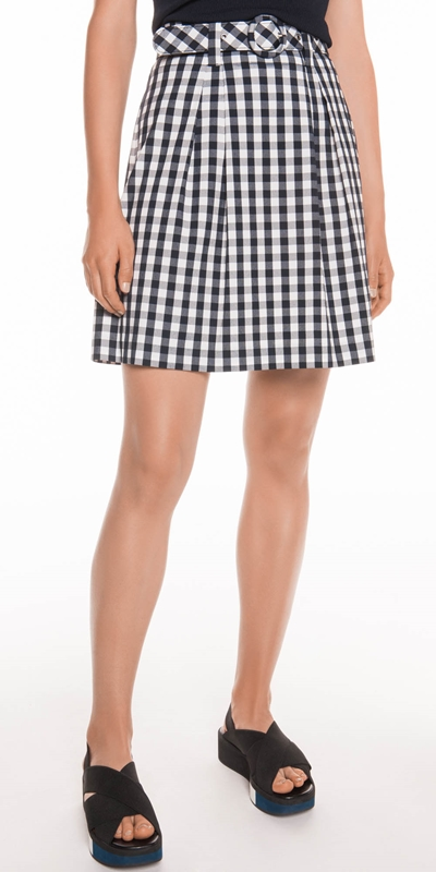 Skirts  | Gingham Check bell Skirt