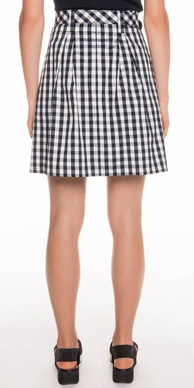 Skirts   Gingham Check bell Skirt