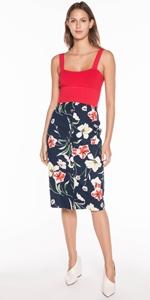 Skirts | Iris Ottoman Button Front Skirt