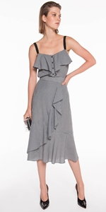 Skirts | Gingham Wrap Midi Skirt