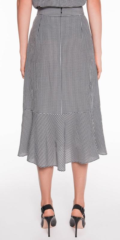 Skirts   Gingham Wrap Midi Skirt