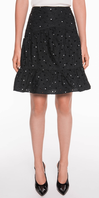 Boxing Day Edit  | Spot Floral Broderie Skirt