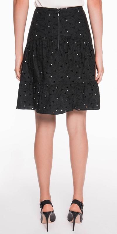 Skirts | Spot Floral Broderie Skirt