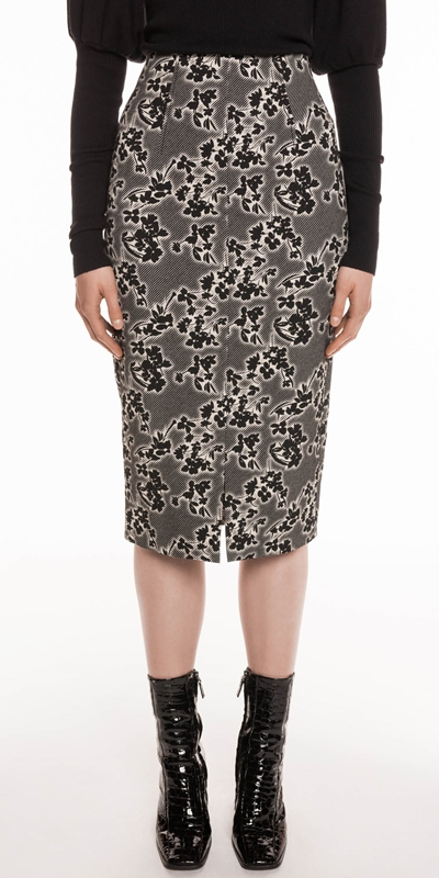Skirts | Jacquard Pencil Skirt