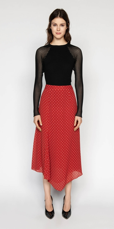 Skirts | Spot Asymmetric Skirt