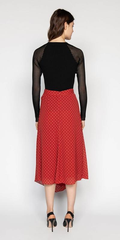 Skirts | Spot Asymmetric Skirt