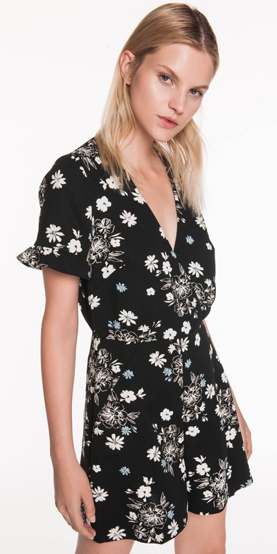Sale  | Daisy Crepe Playsuit