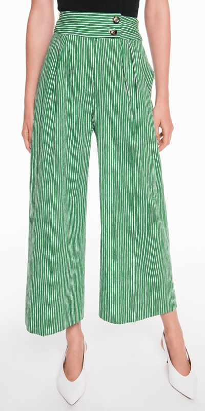 Sale  | Stripe Cropped Wide Leg Pant
