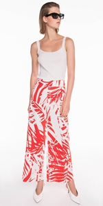 Pants | Tropical Cropped Wide Leg Pant