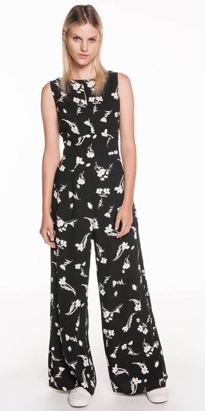 Pants  | Tonal Floral Jumpsuit
