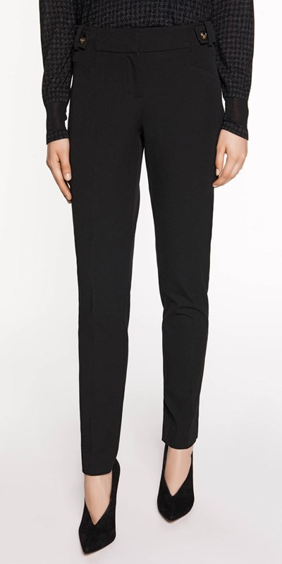 Wear to Work  | Twill Button Skinny Pant
