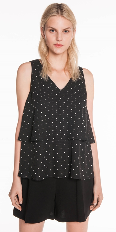 Sale  | Textured Spot Layered Top