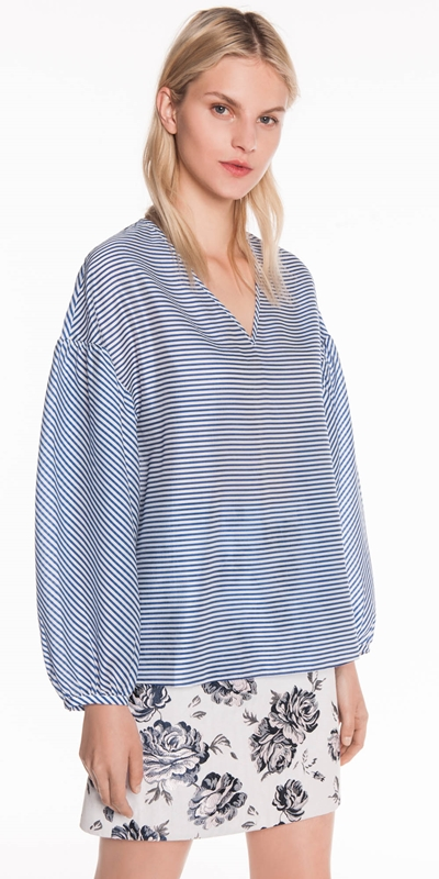 Sale  | Stripe Shaped Sleeve Top