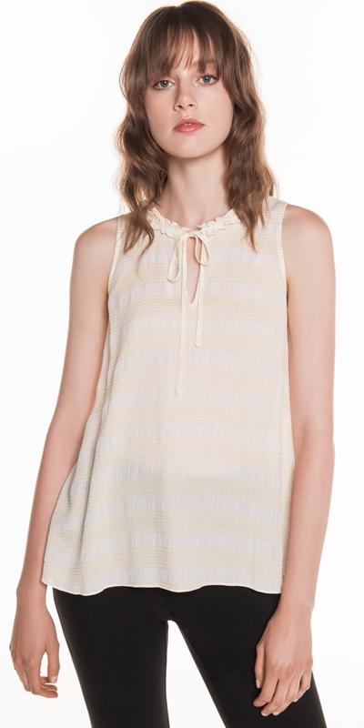 Shirts  | Metallic Stripe Trapeze Top