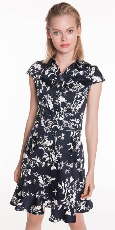 Sale | Floral Cotton Button Front Dress