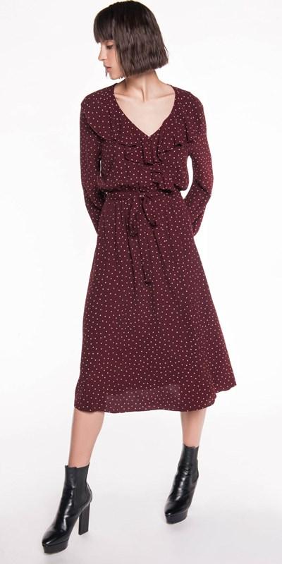 Sale | Spot Crepe Wrap Dress