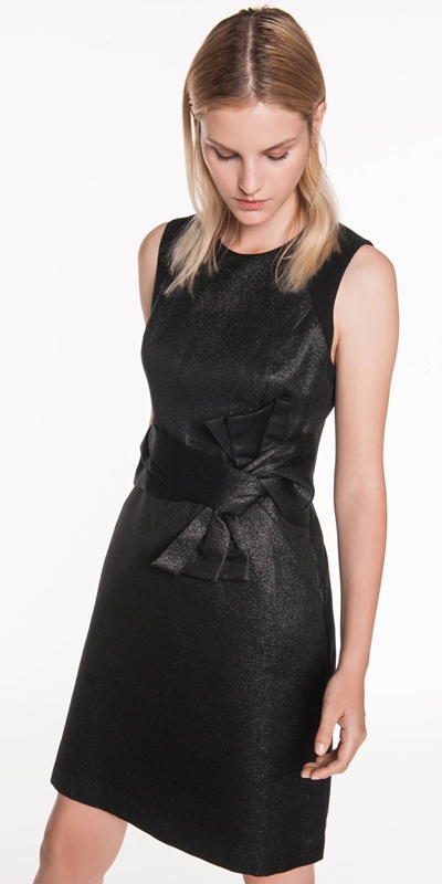 Dresses | Lurex Bow Detail Dress