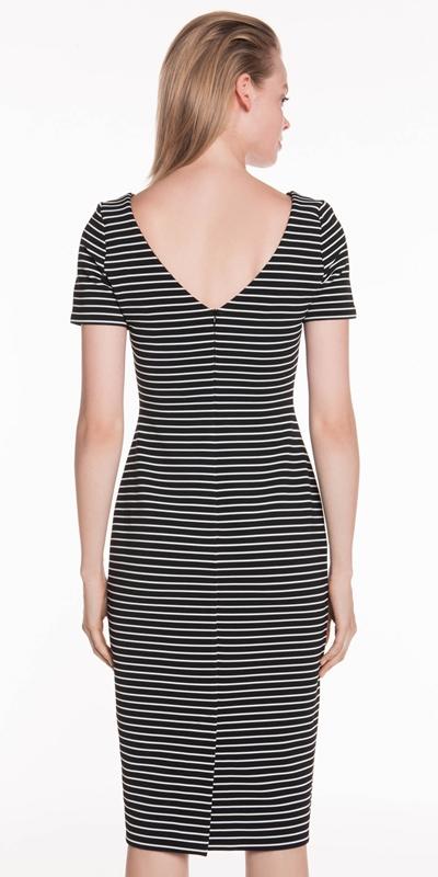 Dresses | Monochrome Stripe Rib Dress
