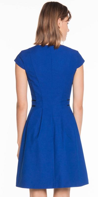 Dresses | Cobalt Textured Faille Dress