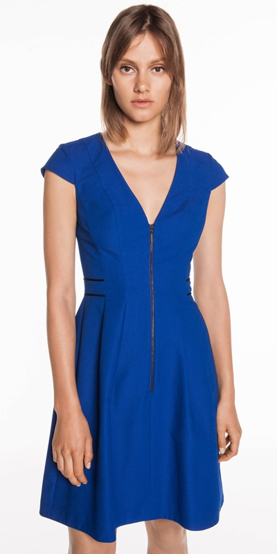 Dresses  | Cobalt Textured Faille Dress