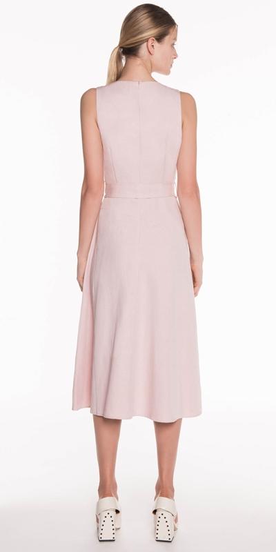 Dresses | Linen Fluted Midi Dress