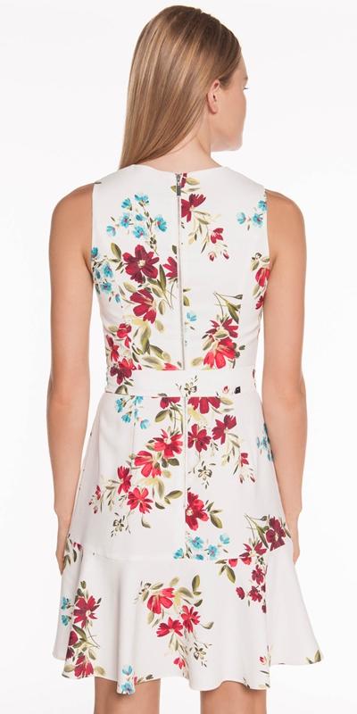 Dresses | Floral Satin Back Crepe Dress