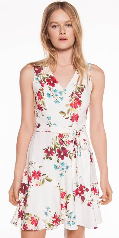 Dresses | Floral Satin Back Crepe Dress