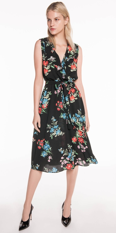 Made in Australia | Textured Floral Georgette Dress