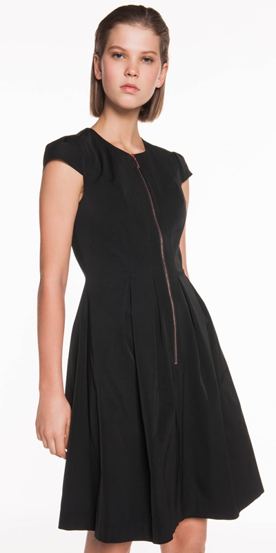 Dresses  | Faille Zip Front Dress