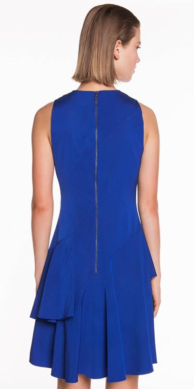 Dresses | Faille Asymmetric Frill Hem Dress
