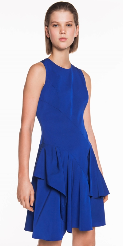 Dresses | Faille Asymmetric Frill Hem Dress