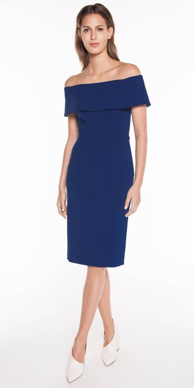 Dresses   Cobalt Off the Shoulder Dress