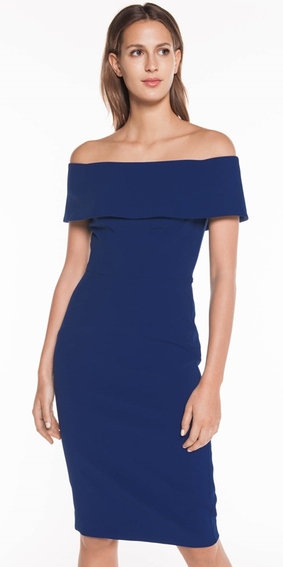 The Party Edit  | Cobalt Off the Shoulder Dress