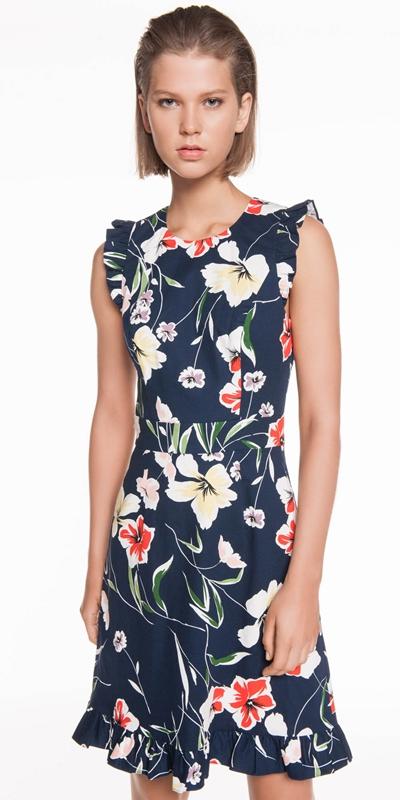 Dresses  | Iris Ottoman Frill Dress